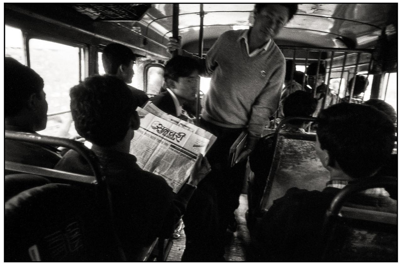 Sikkim - dans le bus