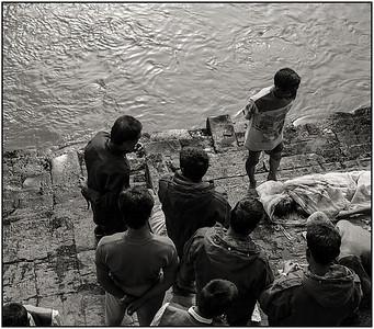 Katmandou - cérémonie funéraire