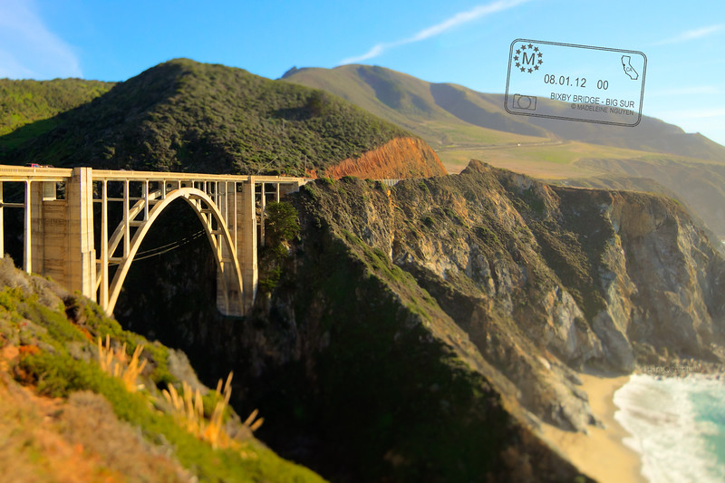 Bixby Creek Bridge on a Sunday afternoon in January. We've been having an unusual warm and dry winter.