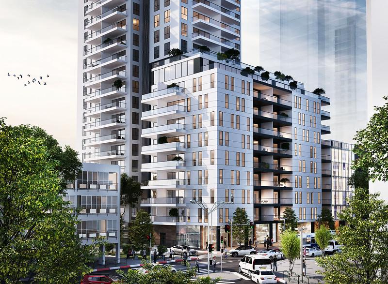 מגדל מגורים-מסחר:: בלומנטל & דרסלר אדריכלים ::גבעתיים