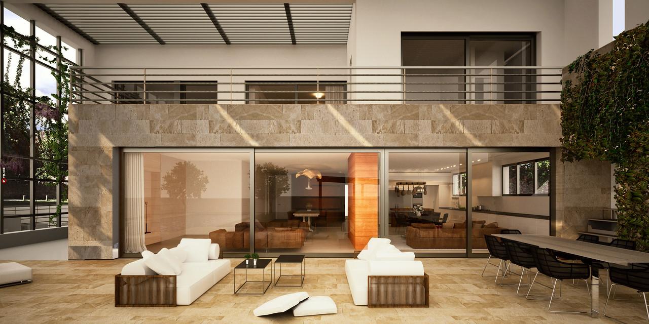 """פרויקט מגורים-ת""""א:: רוזן ליננברג אדריכלים ::"""