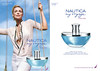 NAUTICA My Voyage for Her 2008 US (recto-verso with scent strip) 'Katherine Heigl for Nautica - The new fragrance for her - Chart your own voyage...'