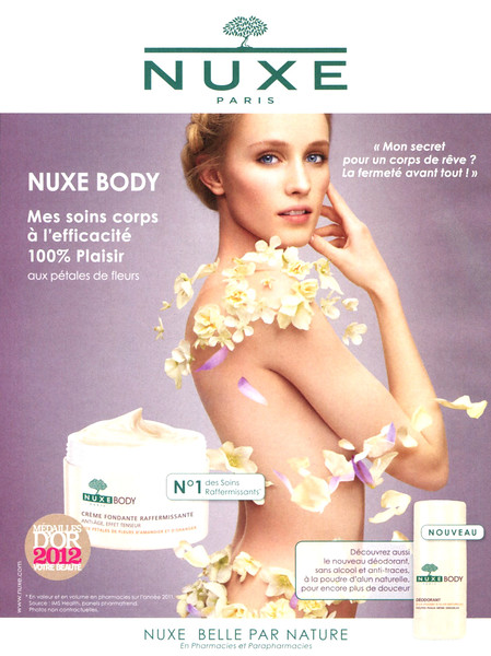 NUXE Body 2012 France (handbag size format) 'Mes soins corps à l'efficacité 100% plaisir'