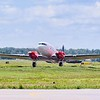1944 DC-3C turbo jet engine conversion practicing at KESN, Easton, Md  -- FORMERLY 167BT