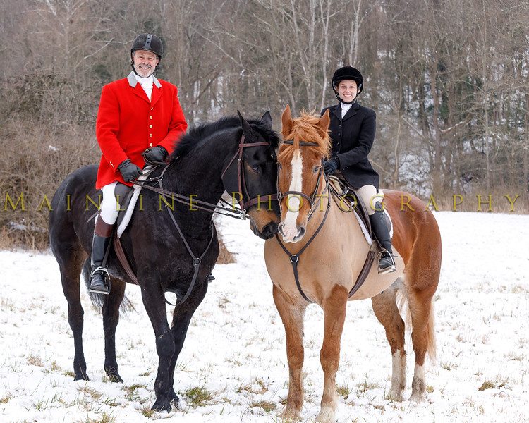Sewickley Hunt 2017 Holiday snow-5