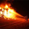 Car Trailer Burns on the Turnpike