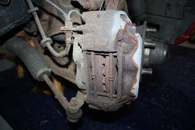 Brake pads worn almost to nothing