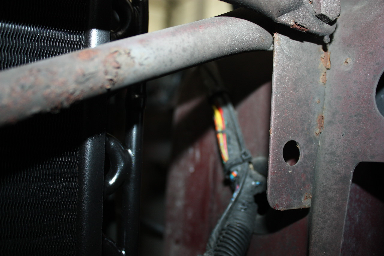 Rodent damage on cables