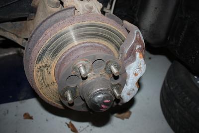 Severe brake disc rust