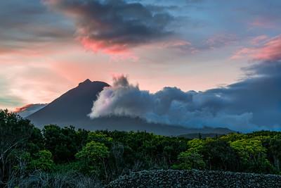 Sunrise on Pico volcano