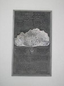 USS Arizona Memorial Plaque