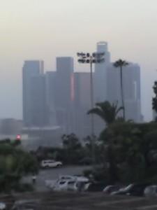 Dodger Stadium View into City
