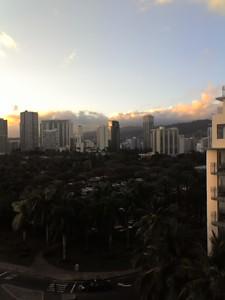 Honolulu Sunset City View