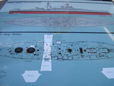 Diagram of USS Arizona Memorial