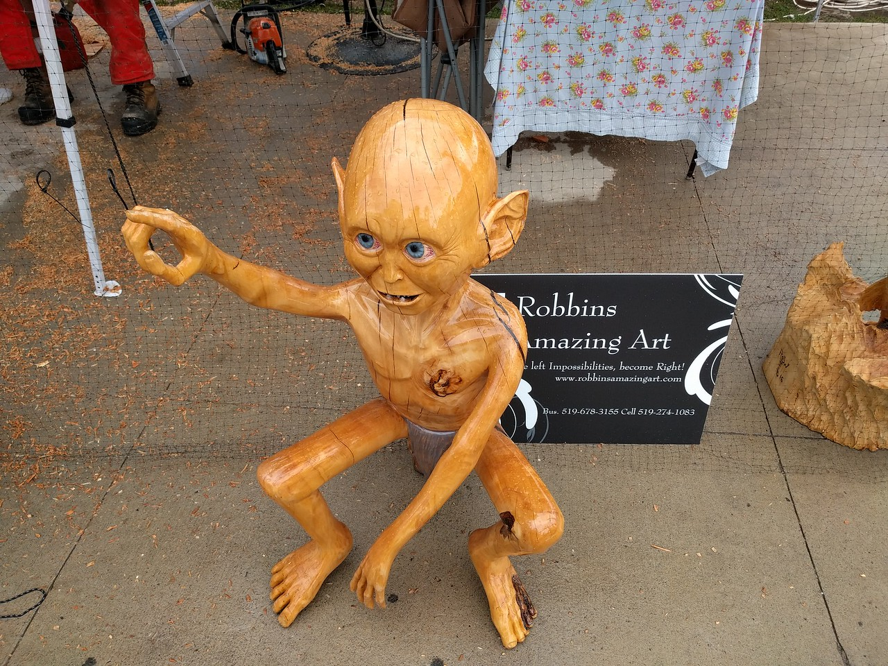 025 - Toronto - Chainsaw Art Gollum