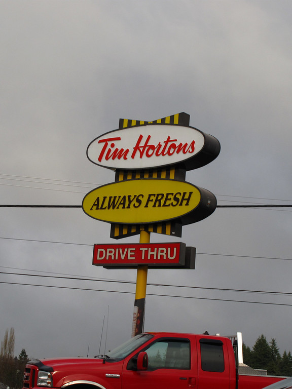 Once you leave Nanaimo it's about a 1 hour drive to Port Alberni.  Port Alberni is your last town before the west coast another 2 hours away.  Tim Horton's is a great place to stop and get Timbits.