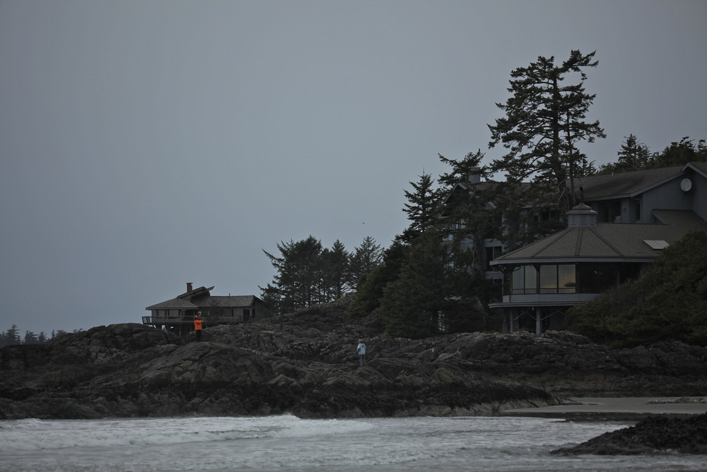 A view of the hotel from Chesterman Beach.