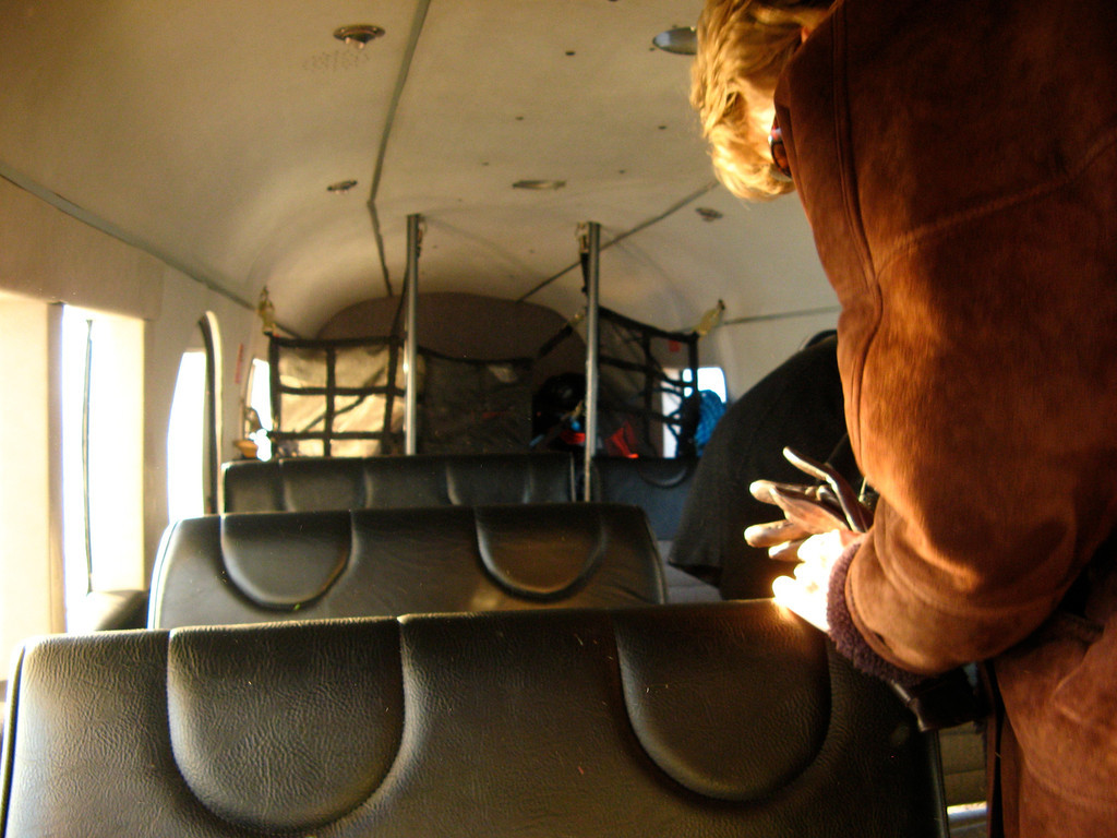 No luggage compartment here, it rides right along with you in the passenger compartment.