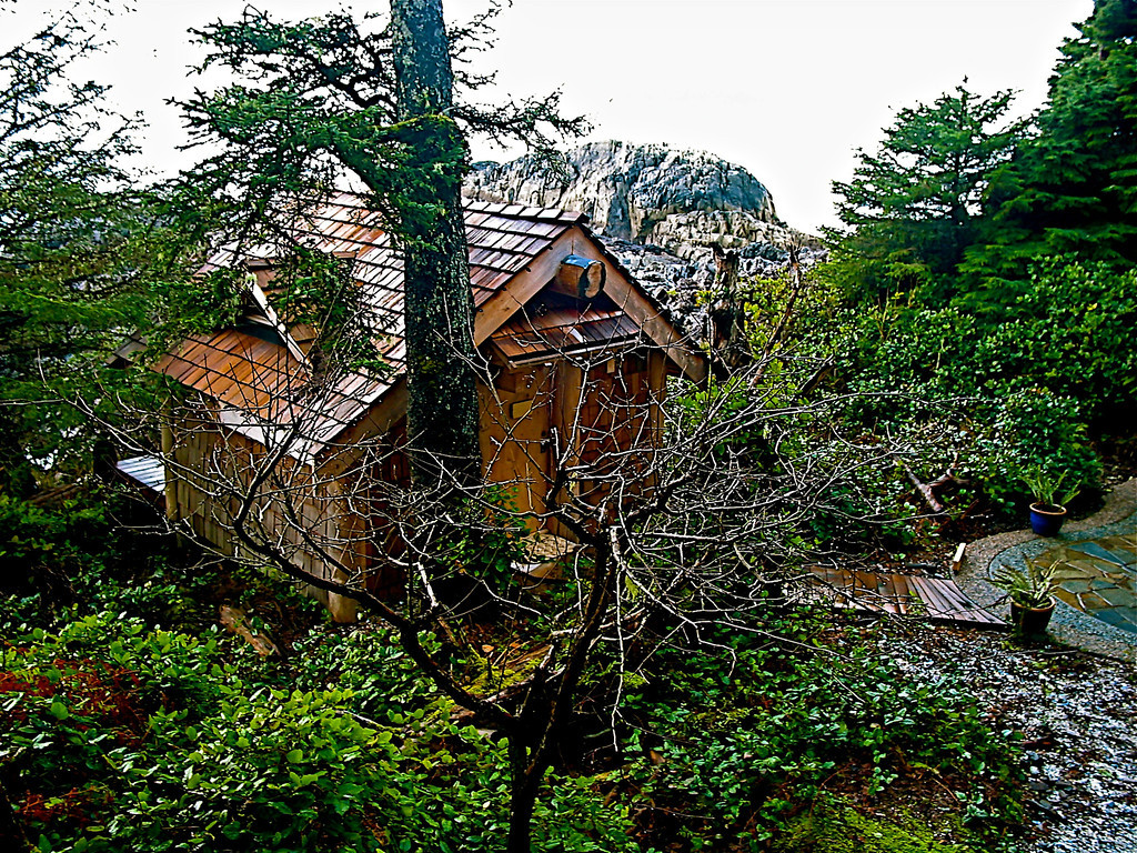 """The Ancient Cedars Spa, located in the lower level of the original building, also has the """"Cedar Sanctuary"""", an outdoor spa building for treatments."""