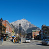 A look up the main street of Banff.  Banff is the second highest town in Canada, followed only by Lake Louise.