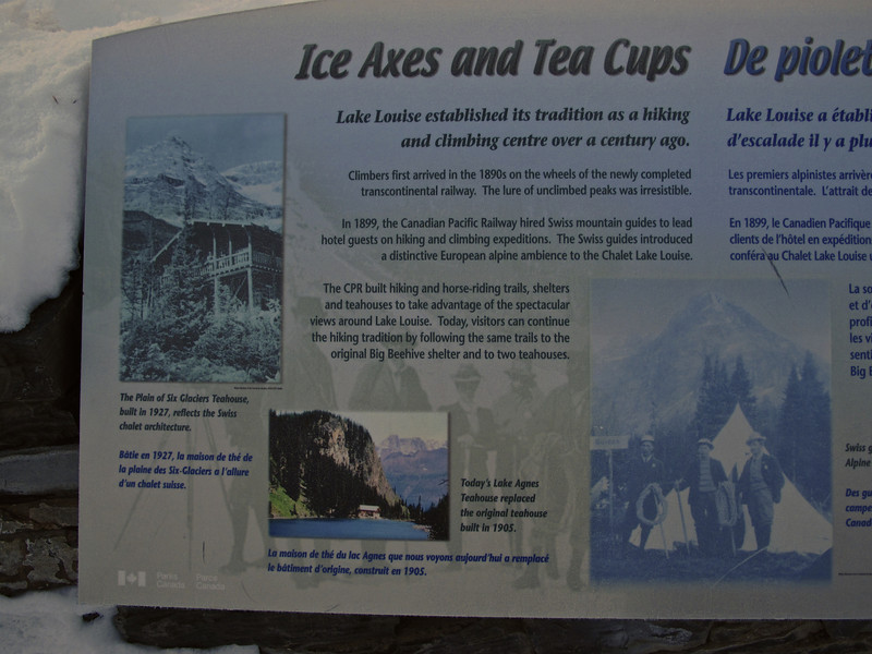 There are a couple of tea houses as you hike around Victoria Glacier that are open during the summer months.