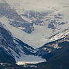 Here's a zoomed in view of the hotel, Lake Louise and the Victoria Glacier from the ski area.