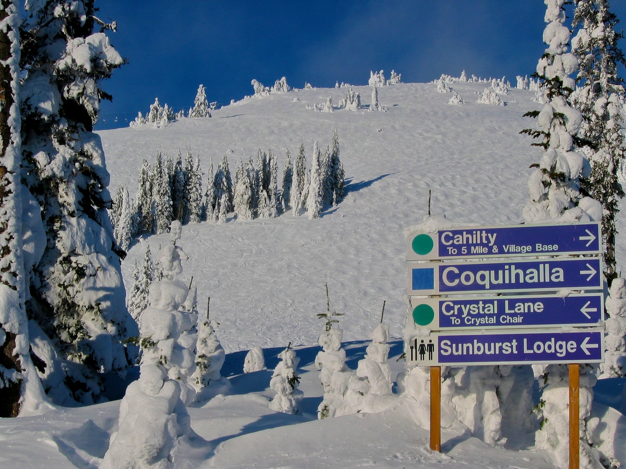 The longest run at Sun Peaks is 5 miles long.  You'll spend more time on the snow than on the lift.
