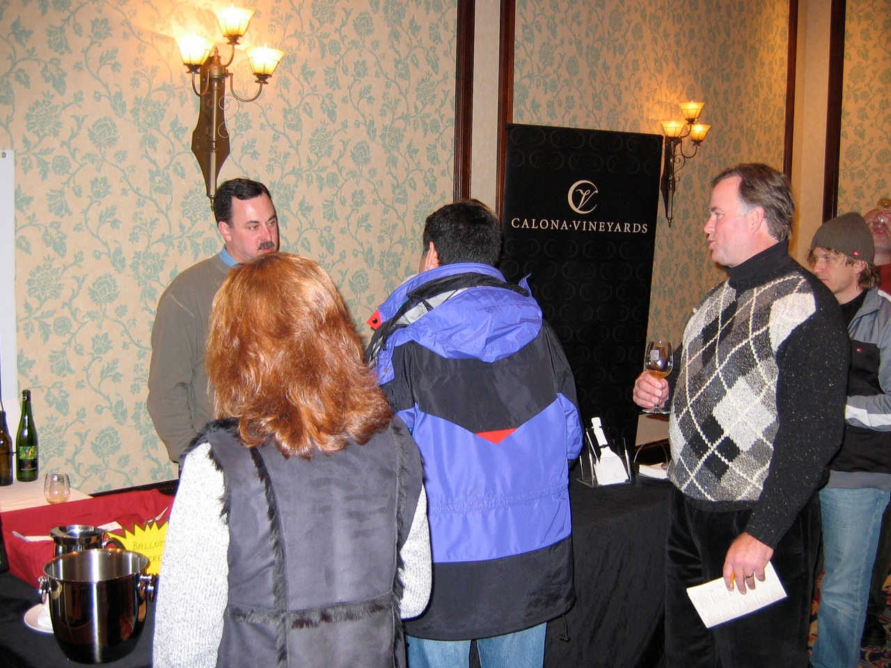 Each winery has a representative to explain the wines.