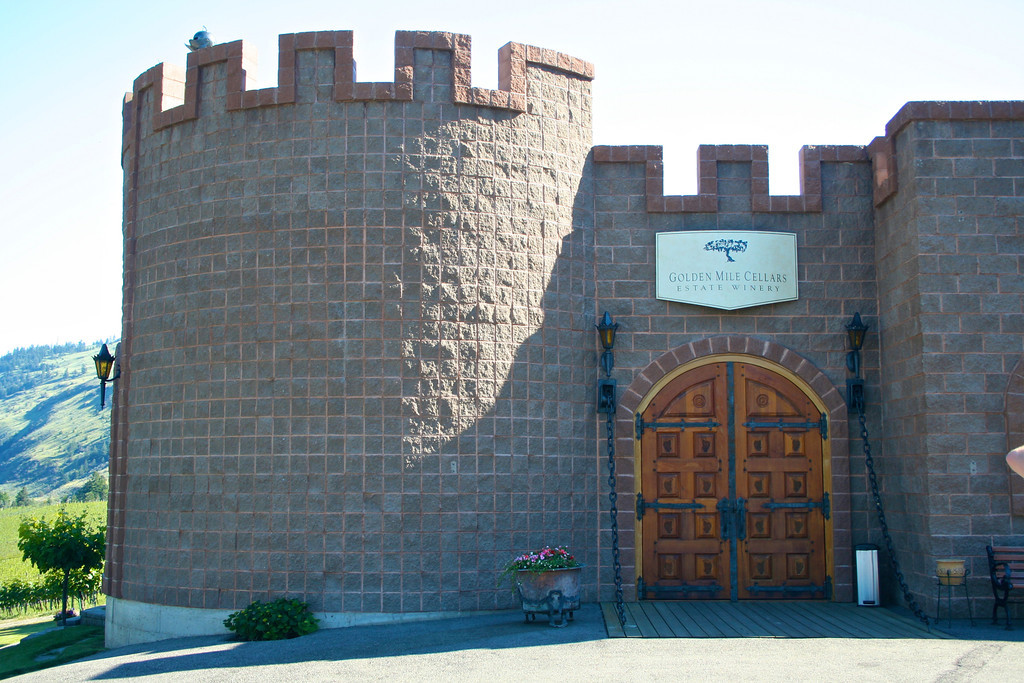 One of the original owners of the winery was from Germany so they built a tasting room to resemble a castle.