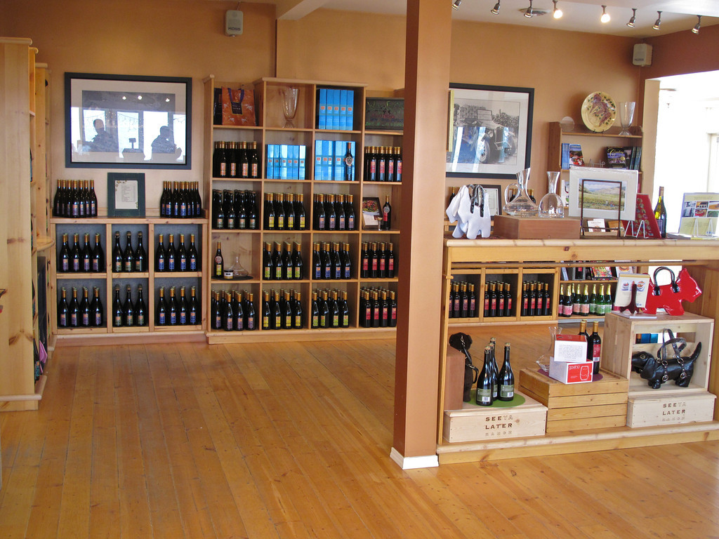 The tasting room is large at See Ya Later and it's a great place to try all of their wines.