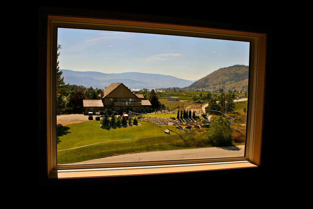 The winery is located in Summerland, right next to the golf course.