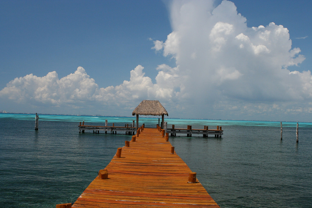 The hotel has a large dock that you can snorkel off of.
