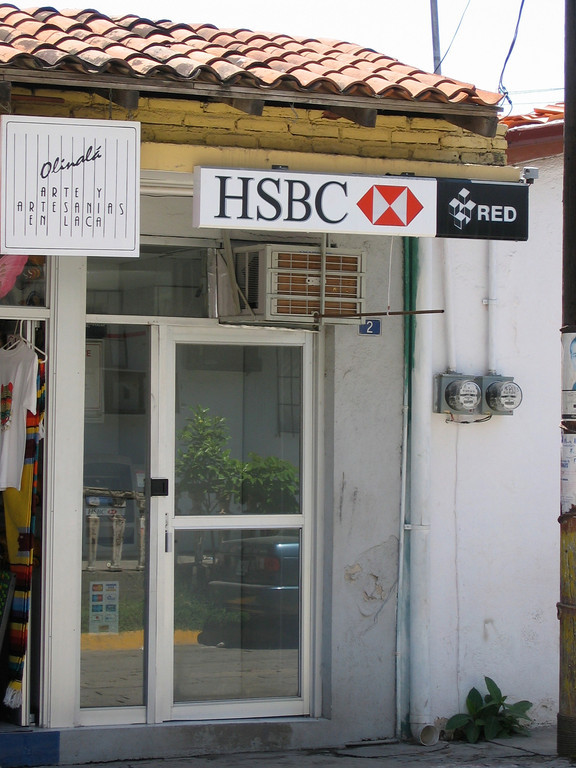 """While their may not be an HSBC bank here, there is it's own """"refrigerated"""" ATM available."""