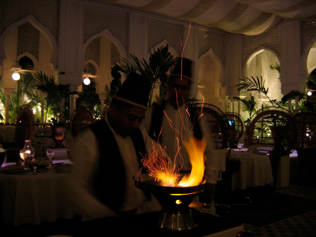 ..bananas flambe made table side is one of their signature dishes...