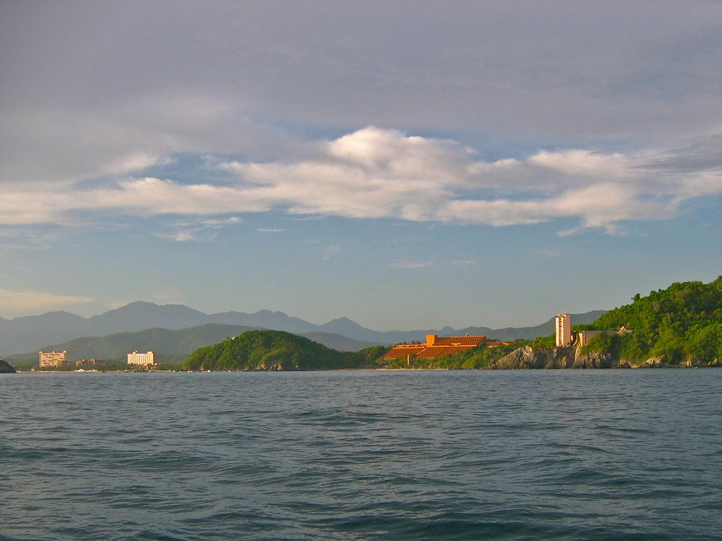 Looking towards Ixtapa from the middle of the bay.