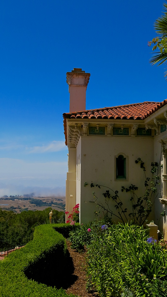 Casa del Mar looks out to the Pacific which is many times covered in fog.