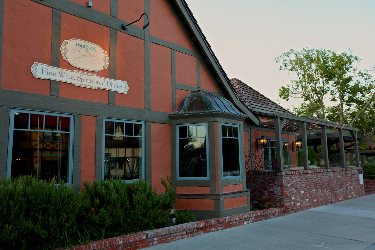 Attached to the hotel is one of the top rated restaurants in Solvang, Root 246.