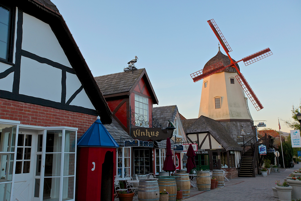 Almost every building in Solvang is inspired by Danish architecture.