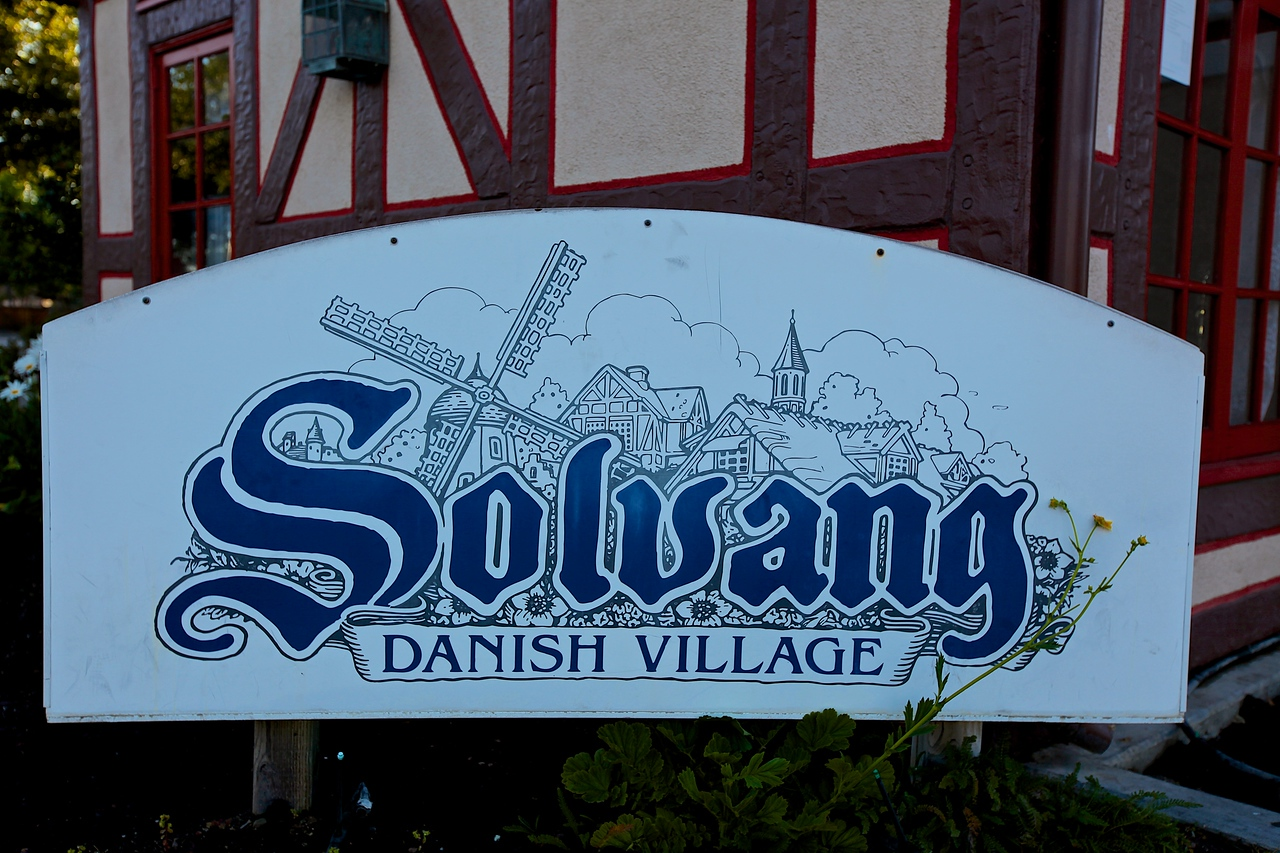 "Solvang, which in  Danish means ""sunny fields"") is located about 2 hours north of Los Angeles in the Santa Ynez Valley. With a population of around 5000, Solvang was founded in 1911  by a group of Danes from Iowa who traveled west to establish a Danish colony far from the midwestern winters."