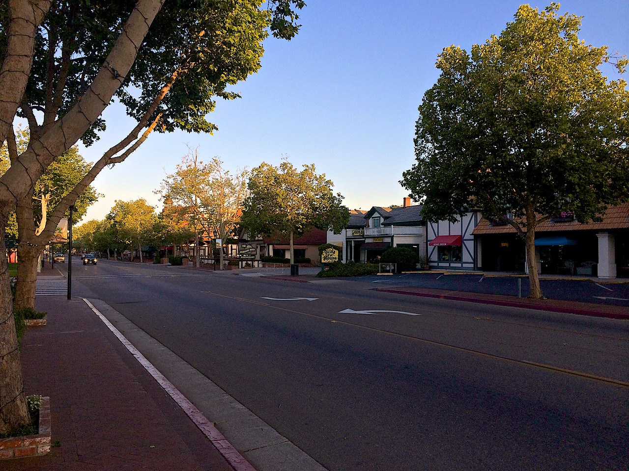 The main street of Solvang is California Highway 246.