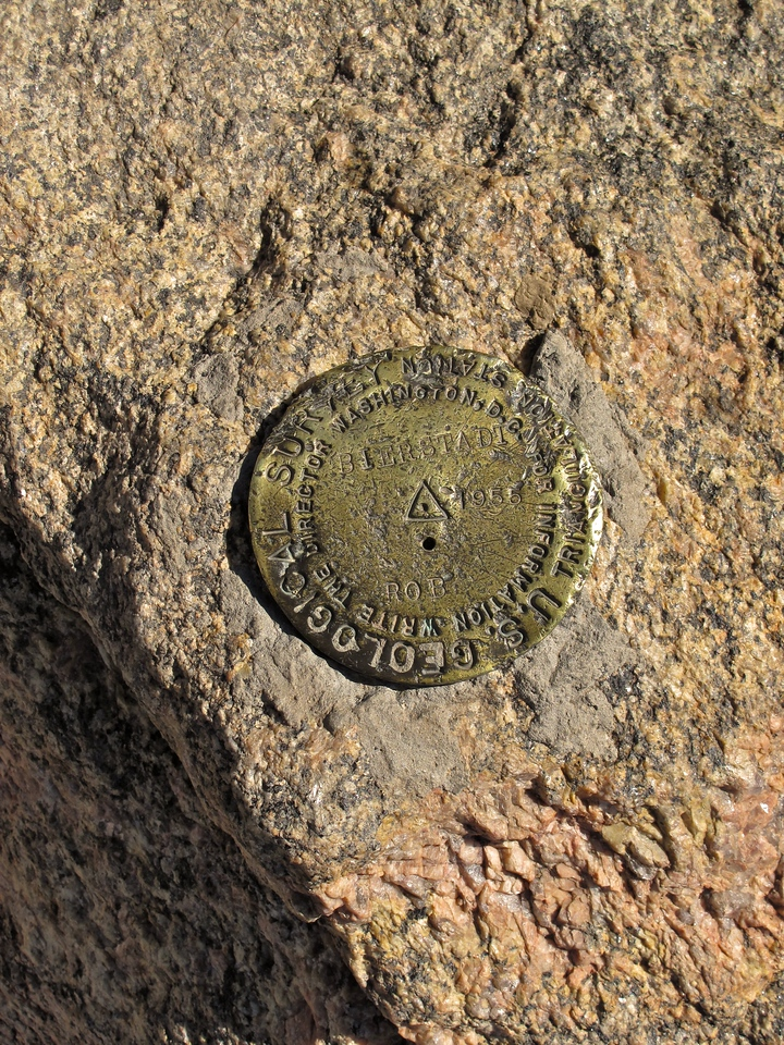 Here's the office Geological Survey Marker at the top of Mt Bierstadt.