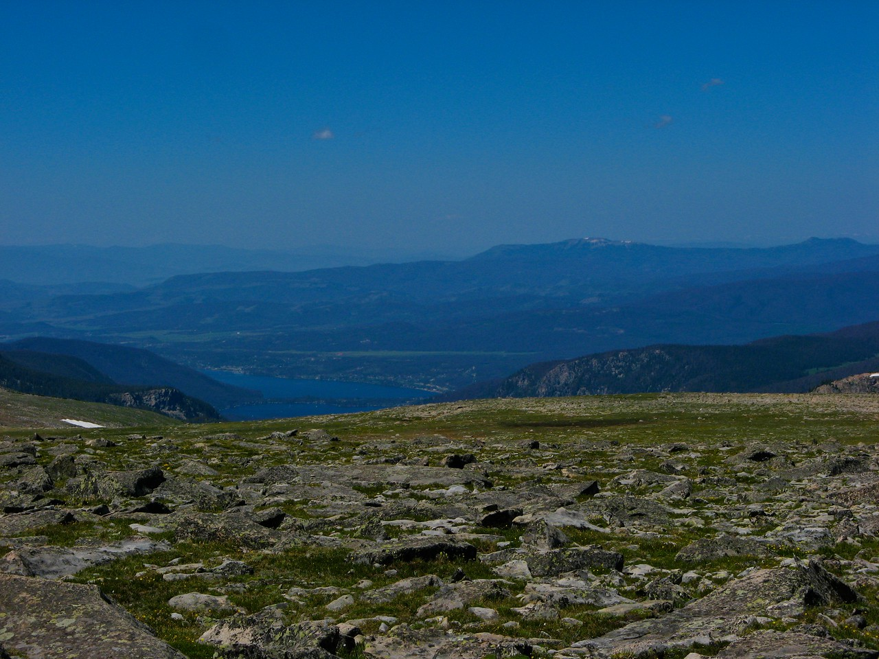 You can see Grand Lake from the top of Flattop.