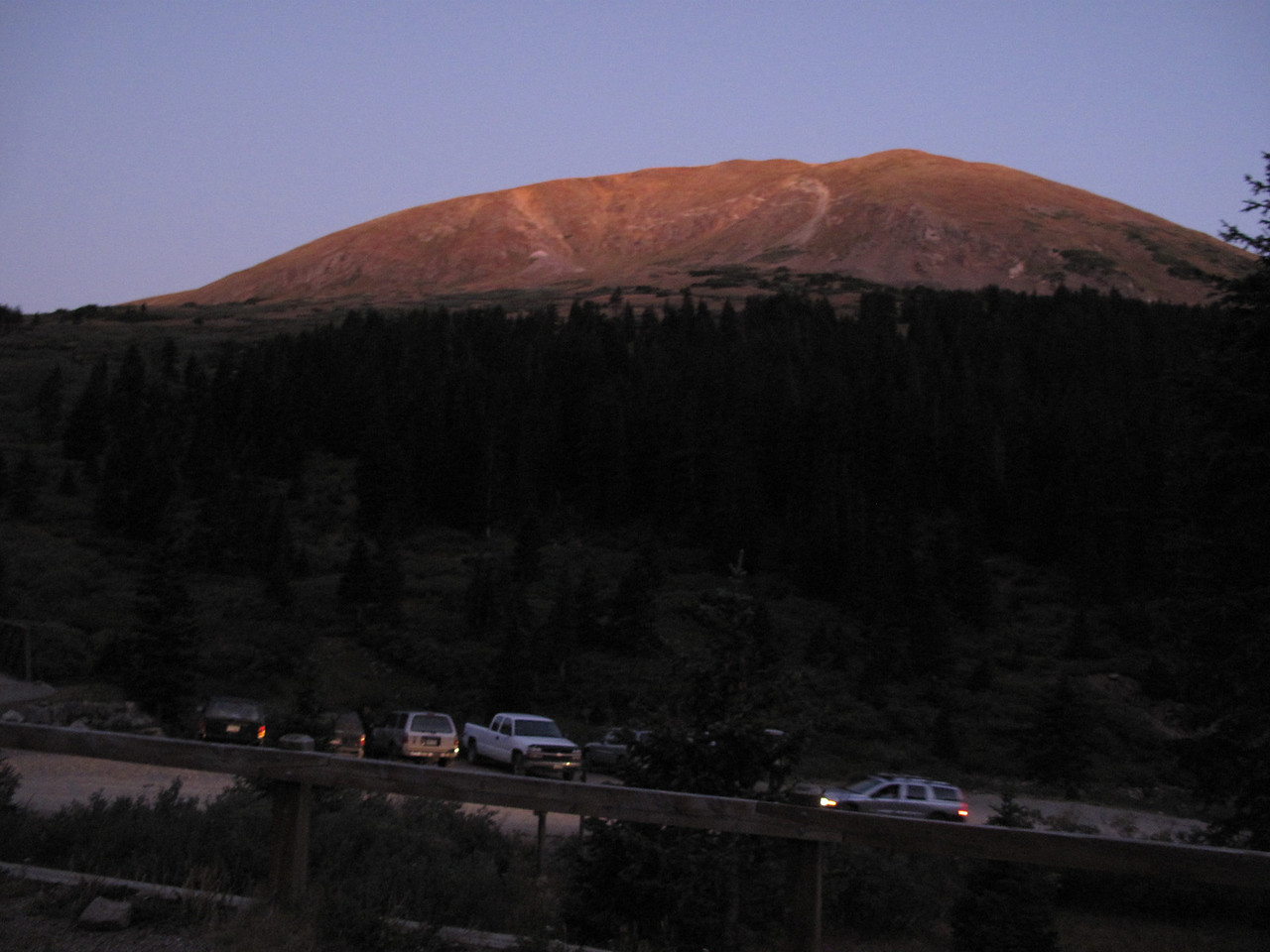 Today we're hiking Gray's & Torrey's Peaks in the Rocky Mountains of Colorado.  It's shortly after 6AM.