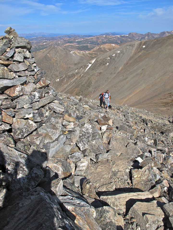 Gray's & Torrey's is a very popular 14'er hike in Colorado, so the trail can get very busy very quickly during the summer months.