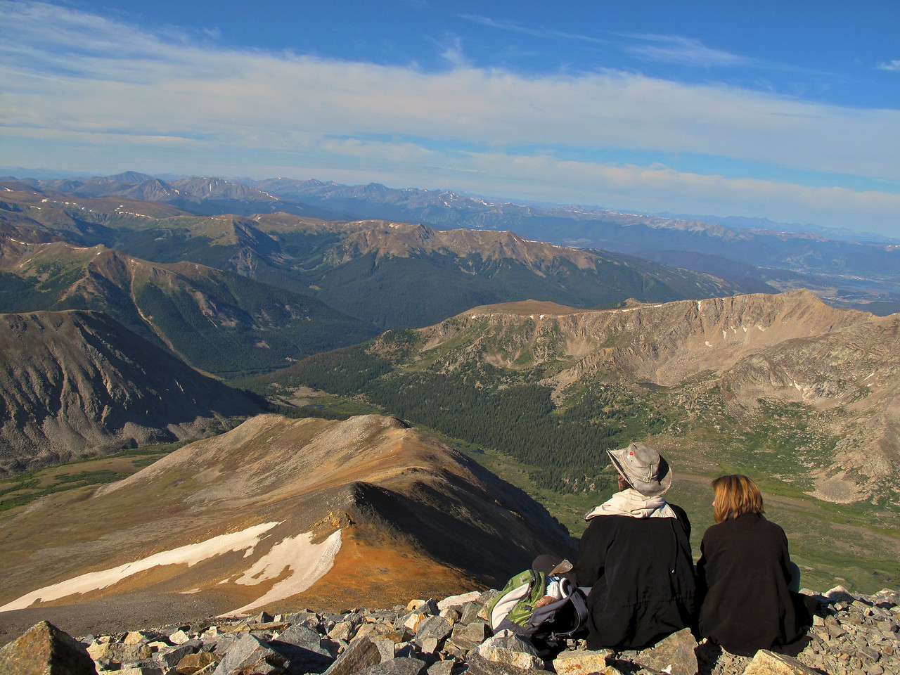 Some fellow hikers enjoy the view looking towards Breckenridge Ski Area.