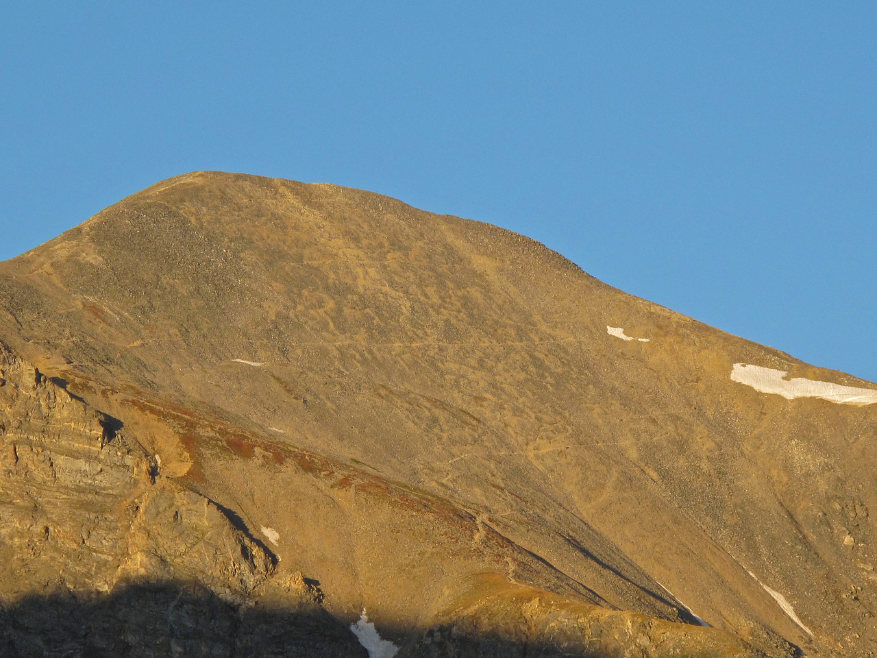 If you look closely, you can see the trail that winds up the side of the mountain.
