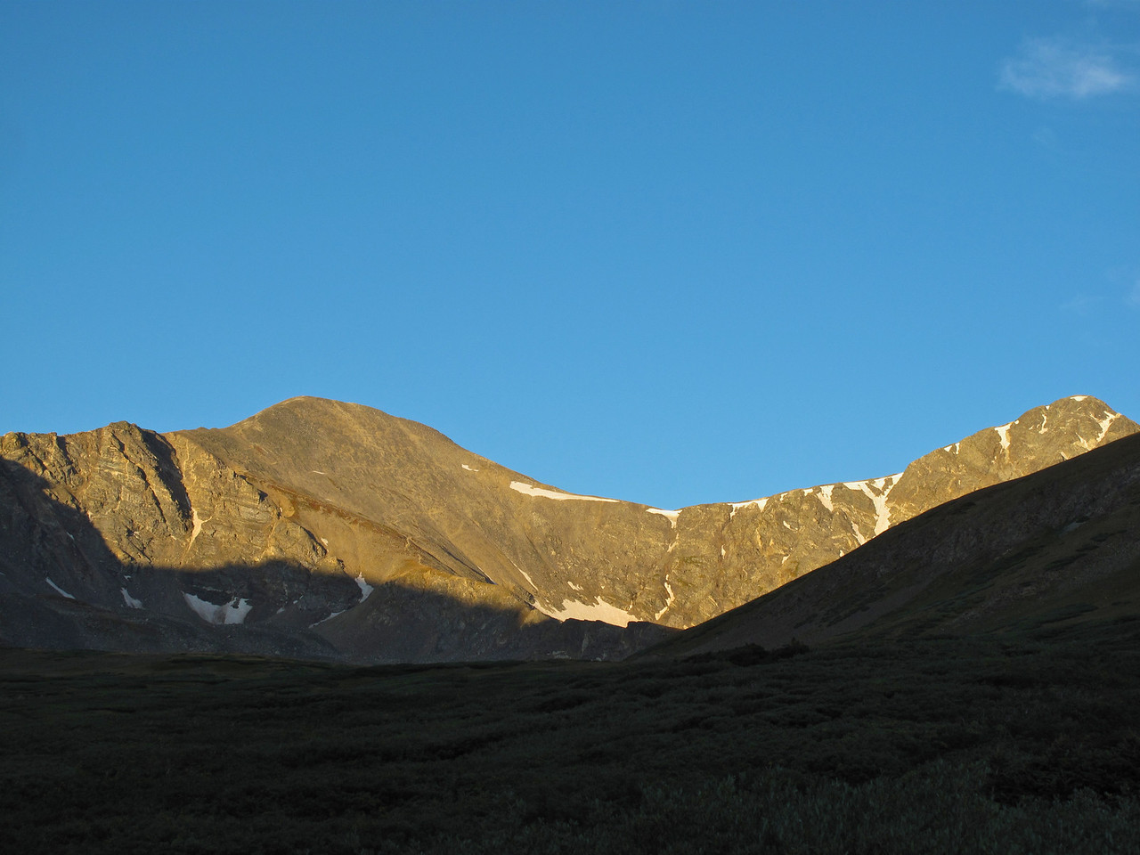 Gray's is the highest peak on the Continental Divide in the United States at 14,270 ft.