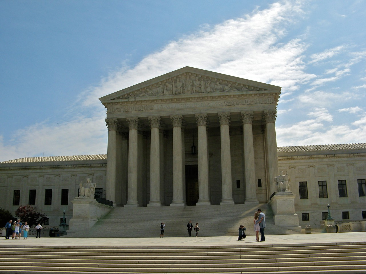 Front of the US Supreme Court building.