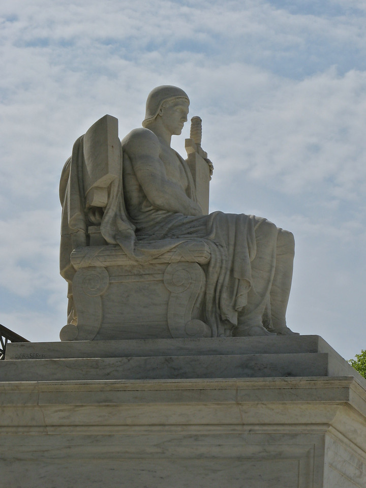 Statue outside the US Supreme Court.