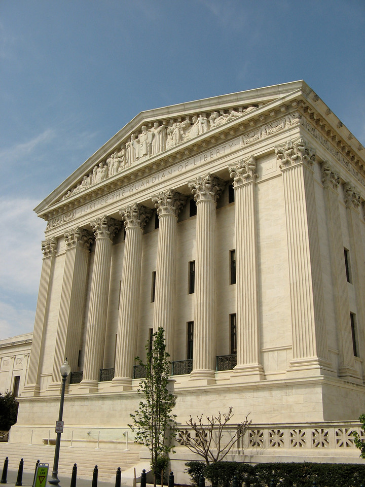 Rear of the US Supreme Court building.